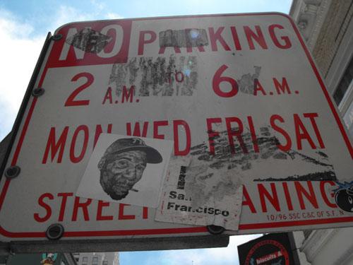 Hugh Leeman sticker sign