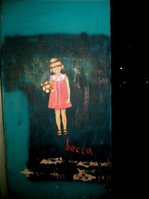 Becca street art in LA