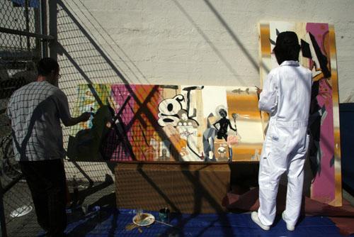 David Choong Lee live painting San Francisco