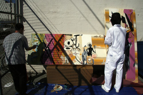 David Choong Lee live painting San Francisco
