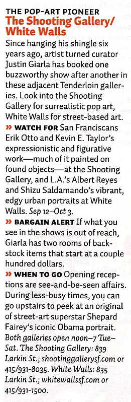 White Walls in Sunset Magazine text